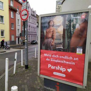Parship werbung plakat